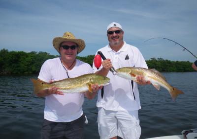 Double hookup on Redfish