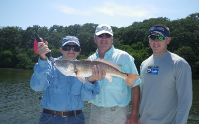 Carlson Family fishing with Capt. Mike Gore