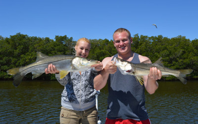 Kailey & Ryan with nice Tampa Bay Snook