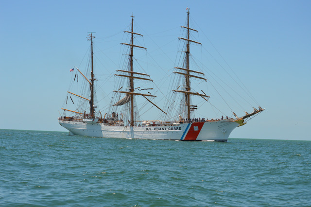 Tarpon fishing with the Coast Guard Sailing ship the Eagle