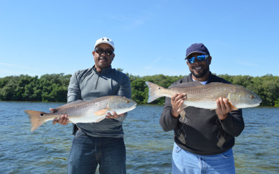 Brian and Greg Tampa Bay Redfish Charter